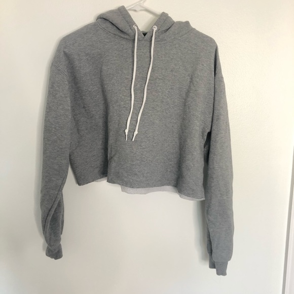 wild fable Tops - SOLD! Cropped Grey Hoodie
